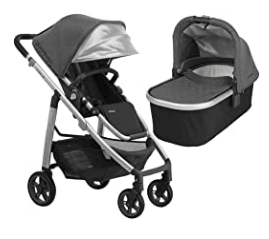 UPPAbaby full-size Cruz infant baby stroller and bassinet bundle
